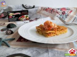 Lasagne con salmone e gamberi