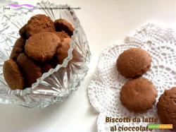 Biscotti da latte al cioccolato - con e senza Bimby