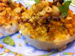 Cuori di merluzzo con panatura di pomodori secchi