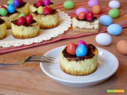 Mini Cheesecake Nido di Pasqua