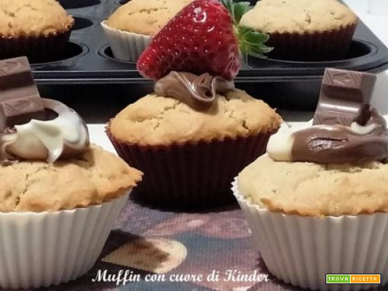 Muffin con cuore di Kinder