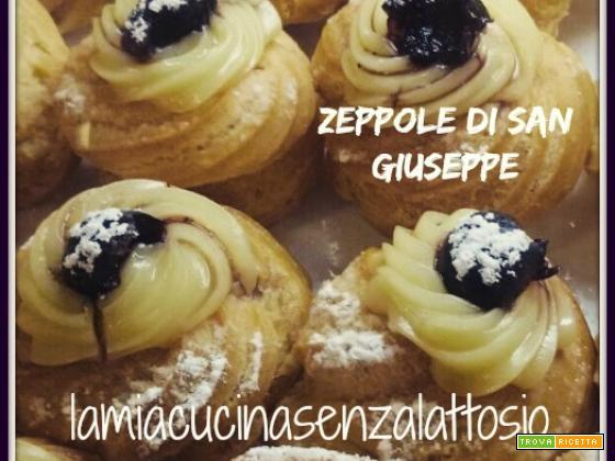 Zeppole di San Giuseppe al forno senza uova senza lattosio