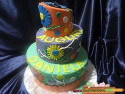 Torta decorata fantasia