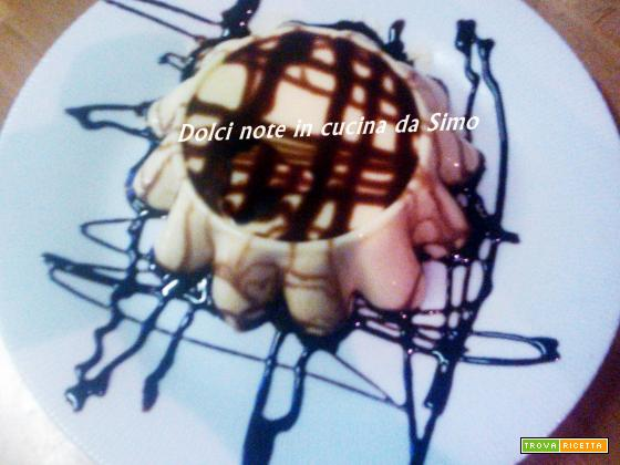 Mini budino alla vaniglia con Topyng al cioccolato