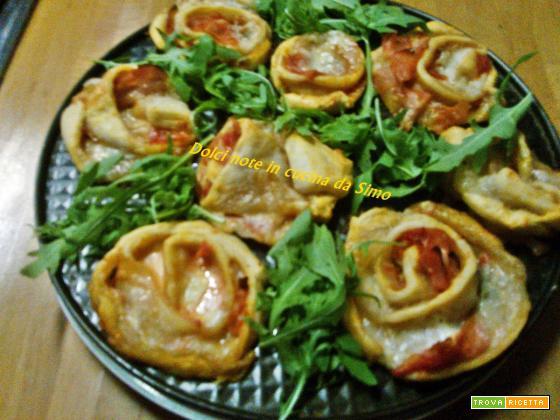 Roselline farcite con prosciutto cotto e gorgonzola