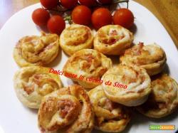 Girelle farcite con pancetta formaggio grana e peperoncino