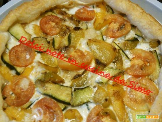 Torta rustica peperoni e zucchine