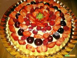 Crostata ai frutti rossi alla crema Chantilly