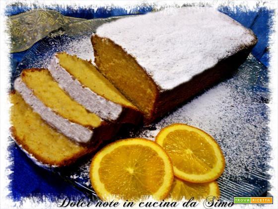 Plumcake alla panna al profumo di arancia