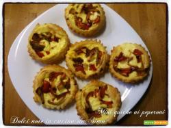 Mini quiche ai peperoni