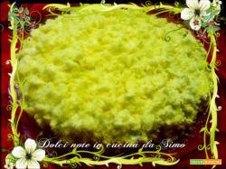 Torta mimosa alla crema chantilly