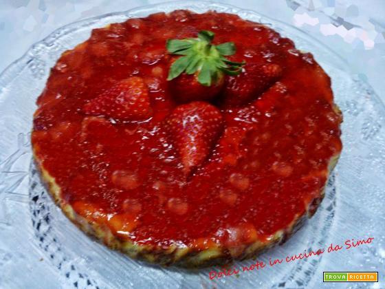 Cheesecake con glassa di fragole