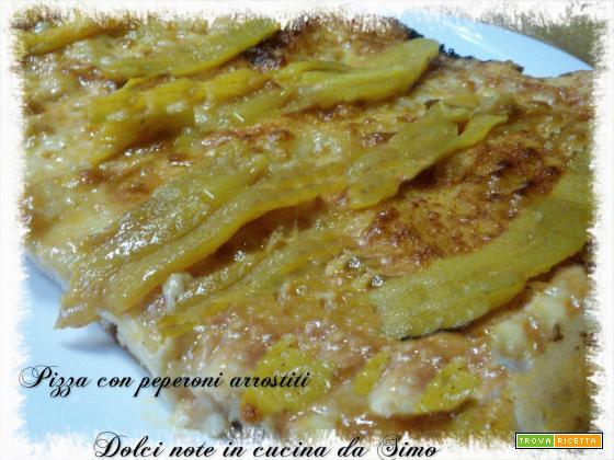 Pizza con peperoni arrostiti