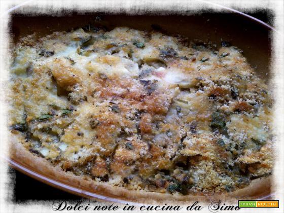Merluzzo con patate al gratin