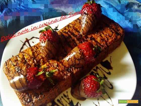 Plum- cake fragole e nutella