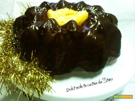 Ciambella all'arancia glassata al cioccolato