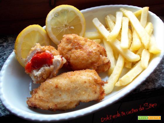 Involtini croccanti di pollo e peperoni