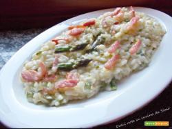 Risotto alla crescenza con asparagi e pancetta