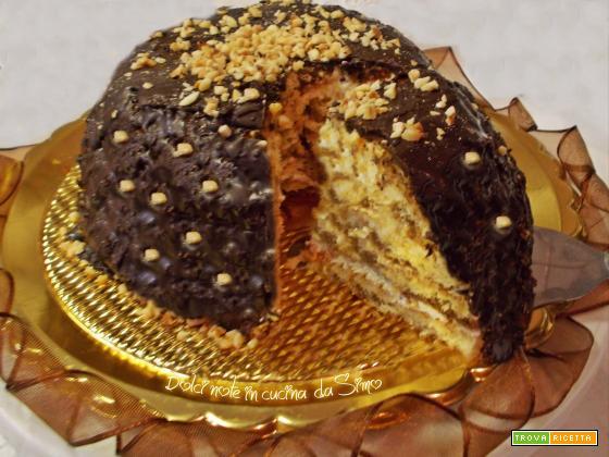 Zuccotto glassato al cioccolato