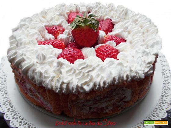 Roll Cake farcita alla crema mascarpone e fragole
