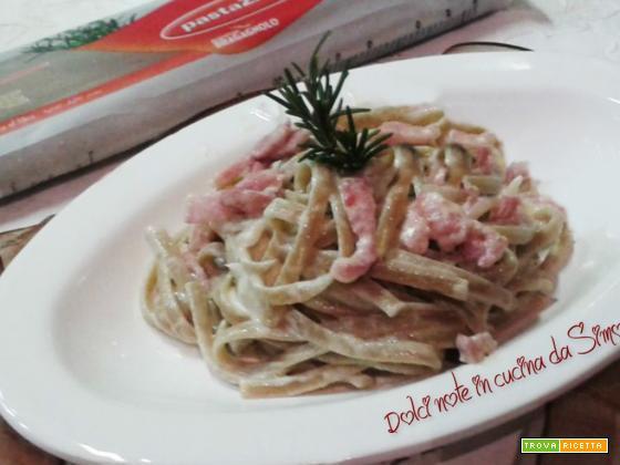 Linguine al rosmarino con pancetta