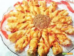 Pizza girasole di sfoglia
