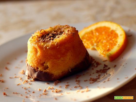 Tortino all'arancia e cioccolato