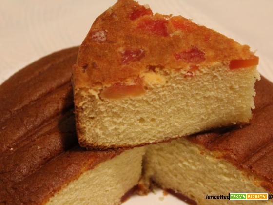 Torta double face soffice alla vaniglia e papaia