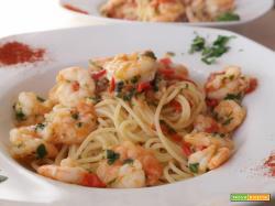 Spaghetti gamberi e pomodorini