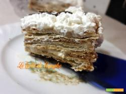 Torta millefoglie con crema di nocciole