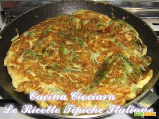 Frittata asparagi selvatici e pancetta ciociara