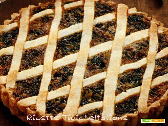 Crostata al cioccolato con ricotta e pere