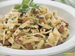Pasta e fagioli asciutta con pesto di lardo