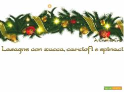 Lasagne con zucca, carciofi e spinaci