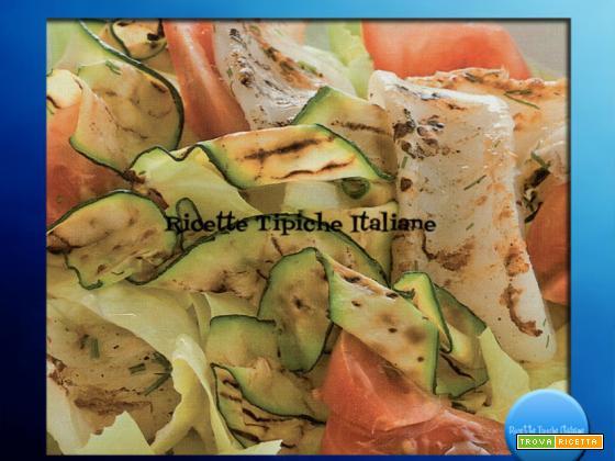 Calamari e zucchine grigliati