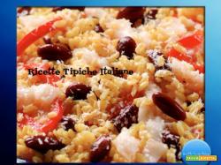 Insalata di riso con merluzzo, peperoni e cocco