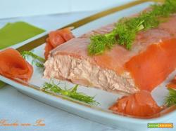 Terrina di salmone senza cottura e senza colla di pesce
