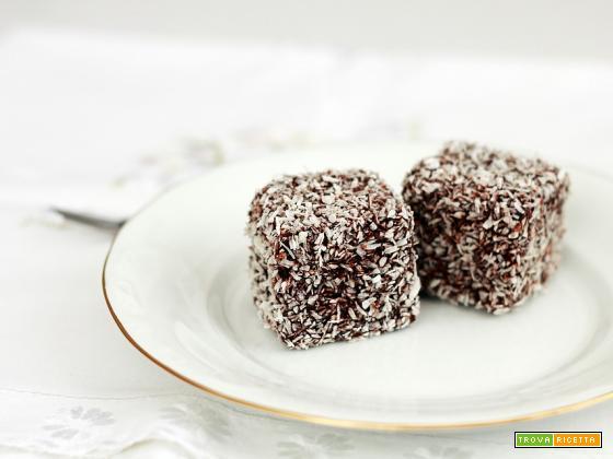 Cubetti al cocco e cioccolato fondente con avanzi di colomba