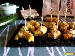 Involtini di zucchine e gamberi con gorgonzola Mauri Formaggi  al gratin