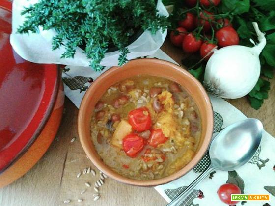 Zuppa di Farro, Fagioli e Zucca