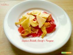 Carpaccio bresaola carciofi parmigiano