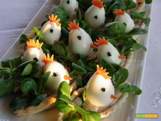 Antipasto di Pasqua con uova