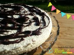 Cheesecake ciocorì al cocco senza cottura