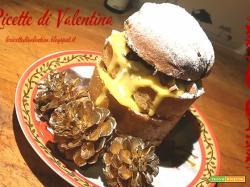 MINI PANETTONE farcito IDEA # 1: con crema pasticcera e frutti rossi