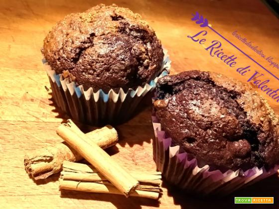 Muffin cacao e mirtilli