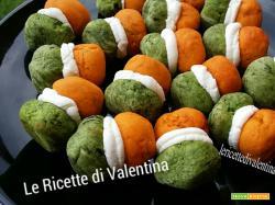 Baci di dama salati tricolore pasticceria salata #8