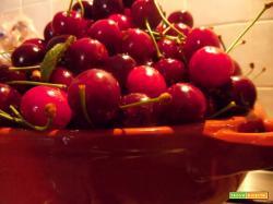 Focaccia dolce di ciliegie