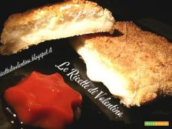 Mozzarella in carrozza con pagnottine avanzate per friggitrice ad aria o al forno