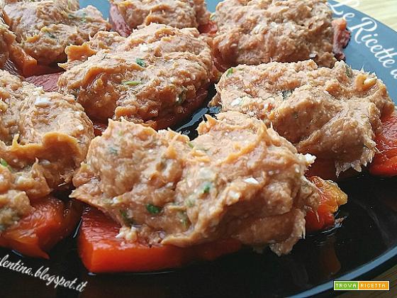 Peperoni arrosto con salsa all'antica