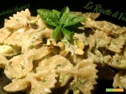 Farfalle Integrali alla Crema verde di Zucchine, Pistacchi e Basilico